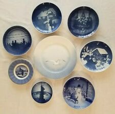 Lot of 8 Royal Copenhagen Plates Blue and White Christmas, Seagull, Bicentennial