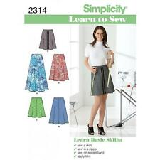 SIMPLICITY SEWING PATTERN MISSES' SKIRT IN 3 LENGTHS SIZES 6 - 18  2314