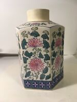 Asian Hand Painted Pink Flower Vase