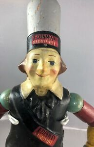 "16"" Antique American Composition Ediswan Radio Valve Advertising  Doll! 17763"