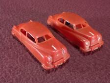 #1 MANOIL 2 RED PLASTIC CARS - 3 INCH