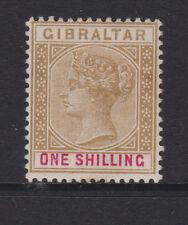 Gibraltar - 1898 1 / - Bistre & Carmine Perfecto Sg.45 (Ref.d 86)