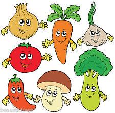 Stickers muraux enfant Légumes 30x30cm réf 2523