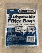 Shop Vac Type C Bags 906-69
