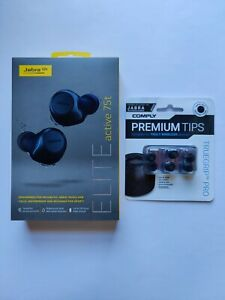 Jabra Elite Active 75t + Comply Memory Foam Truegrip Pro Eartips Included