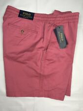 "Polo Ralph Lauren Mens Shorts Large Pale Red Drawstring 6"" Inseam Ctn Spndx NEW"