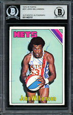 Super John Williamson Autographed 1975-76 Topps Card #251 Nets Beckett 11482151