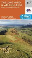 OS Explorer Map 217 The Long Mynd & Wenlock Edge: Church Stretton & Craven Arms