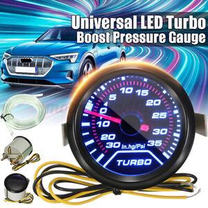 52mm 2 ″ LED Car LED Turbo Boost Pressure Gauge Meter Pointer Dials Psi 12V
