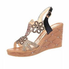 Women's Buckle Platforms and Wedges Sandals & Flip Flops