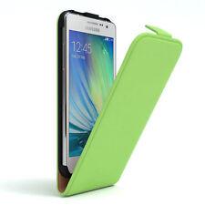 Tasche für Samsung Galaxy A5 (2015) Flip Case Schutz Hülle Cover Grün