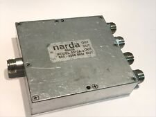 NARDA 3372A-4  N TYPE 4 WAY RF 30W POWER DIVIDER  800MHz - 2500MHz        ac1b41