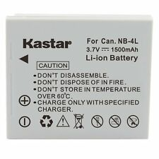 1x Kastar Battery for Canon NB-4L PowerShot SD1100 IS SD1400 IS TX1 ELPH 100 HS
