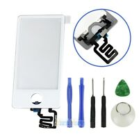 White Touch Screen Digitizer Glass Panel Replacement For iPod Nano 7 7th Gen +TL