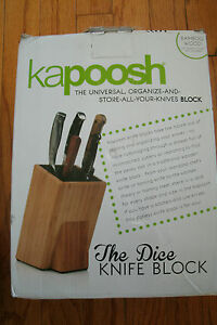 Kapoosh The Original Spotless Knife Block Bamboo Wood  Model 650BB