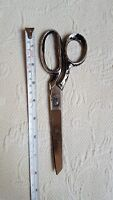 Vintage Hot Drop Forged Steel Scissors Made in Italy 8 Inch w signs of age/use