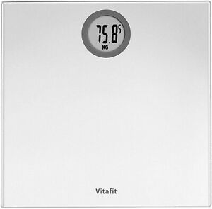 Vitafit Digital Bathroom Scales Weighing Scales with Step-On Technology, LCD