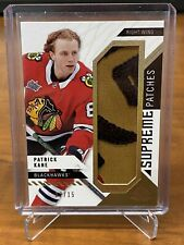 2018-19 UD SP Game Used Patrick Kane Supreme Patches # /15 Blackhawks