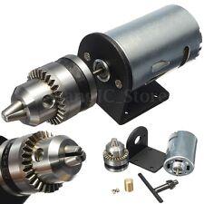 12V-36V Mini Hand Drill DIY Lathe Press 555 High Power Motor Chuck Bracket Tool