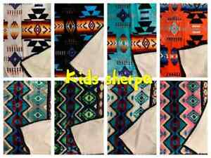 Southwest Native american Indian Navajo Print throw Blanket Sherpa