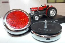 MF 35 135 Tractor Quality Reproduction RER25 Chrome Brass Red Rear Reflectors x2