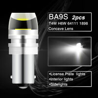2pcs BA9S 233 T4W Bayonet LED Car Interior Light Bulbs Sidelights T11 Plate Lamp