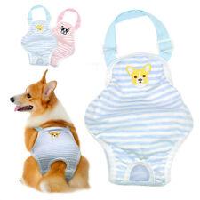 Dog Sanitary Towels Napkins Female Nappy Diaper Bitch Season Pants Pink Blue M L