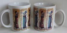 Pair Golf Bag Coffee Mugs 2 Cups Wrap Around  SHERWOOD Brands Vintage Design