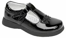Boulevard Girls C732 Patent Touch Fastening T Bar Back to School Shoes Sizes 6-2 UK 13 Kids