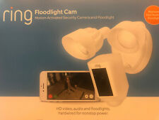 Ring Floodlight Camera Motion 2.4Ghz Hd Wi-Fi- White New Sealed