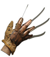 Halloween NIGHTMARE ON ELM STREET FREDDY KRUEGER DELUXE REAL METAL BLADES GLOVE