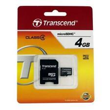 4GB micro SD Transcend TS4GUSDHC4 Speicherkarte Class4 + Adapter