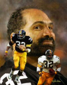 Franco Harris Pittsburgh Steelers Running Back NFL Football Art 2 8x10-48x36