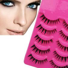 5 Pares Alta Calidad Maquillaje Gruesas Pestañas Falsas Pestañas Larga Extensión
