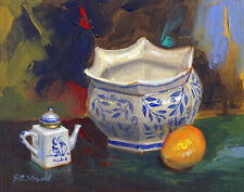 Listed Artist - Acrylic on Canvas Board - 8x10 inches - Still Life-