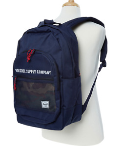 HERSCHEL Designer Navy + Camouflage Mesh Kaine Backpack