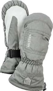 2020 HESTRA C Zone Powder Female Ladies Ski Mitten Size 8 Grey 32621 waterproof