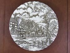 Vintage Myott Ironstone Royal Mail Dinner Plate Brown Cream British Stagecoach