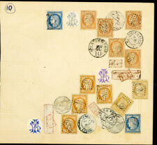 France Classic Fantasy Cover Various Genuine 1800s Stamps