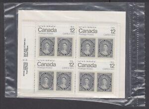 CANADA SEALED PLATE BLOCKS 753 CAPEX '78 12d QUEEN VICTORIA