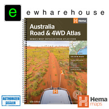HEMA MAPS BRAND NEW AUSTRALIA ROAD & 4WD ATLAS 12TH EDITION 188 NEW MAPS