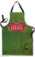 PERSONALIZZATO IMPERMEABILE GREMBIULE ORIGINALE VERDE Etichetta Birra cucinare