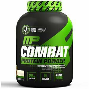 MusclePharm  Combat Protein Powder  Cookies and Cream  4 lbs (1.8 kg)  52 Serves