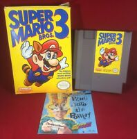 Super Mario Bros. 3 (1990) Nintendo NES NEAR Complete W/ Box & Cart ONLY!