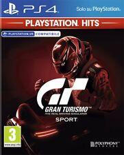 GRAN TURISMO SPORT (HITS) PS4 NUOVO SIGILLATO PAL ITALIANO PLAYSTATION 4 GT DVD