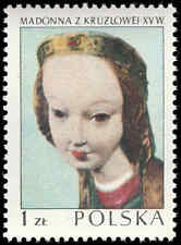 Scott # 1962 - 1973 - ' Kruzlowa Madonna. C.1410 ', Polish Art