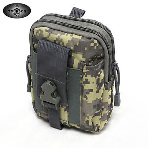 TOURBON Nylon Camo Molle Pouch Tool Carrying Belt Pouch Mini Pack Waist Holster