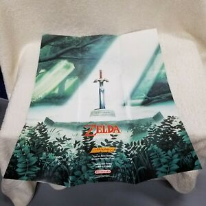 ⭐Legend of Zelda: A Link to the Past Super Nintendo SNES Poster ONLY NO GAME!⭐👀
