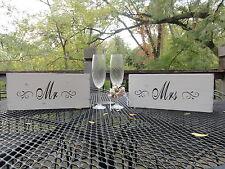 Rustic Barn Beach Mr. and Mrs. Bride Groom Wedding Head Table Signs Decoration