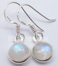"925 Pure Silver Fancy RAINBOW MOONSTONE EXTRA ORDINARY Earrings 1.1"" PIERCED"